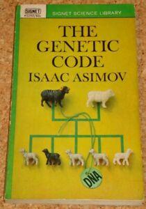 THE GENETIC CODE (DNA) - Isaac Asimov - rare Signet paperback book
