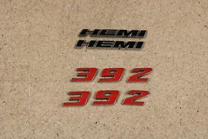 Mopar 392 HEMI Emblem Logo Dodge Challenger Charger 68086136AE Nameplate Decal