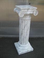 Griechische Säule , Höhe100cm Cararaweiß Farbmaromiert Blumensäulen Deko Säulen