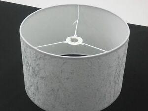 "Hand Made 12"" Silver-Grey Velvet Lampshade"