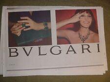 Bvlgari New York Times Newspaper Clipping Advertisement Carla Bruni