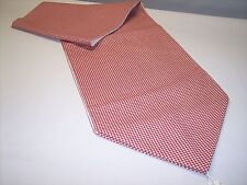 """WOW**NEW~84"""" CRIMSON RED GINGHAM CHECKED~Quality Lined Tablerunner With Tassels!"""