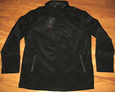 New TUMI Black 4T-2013 T-Tech Zip Coat Jacket + Hood LARGE LRG LG L NWT $250