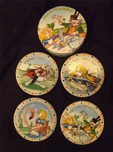 NIB 4 Paul Cardew Alice in Wonderland Coasters PICTURES ARE WITHIN DESCRIPTION
