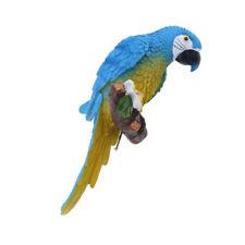 Parrot Ornament Bird Statue Figurine Sculpture Home Garden Decoration Blue