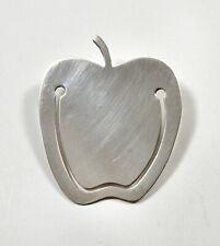 Tiffany & Co ~ Big Apple Bookmark / Money Clip ~ Sterling Silver 925 Top Teacher
