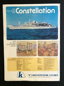 MS CONSTELLATION - 'K' LINES - HELLENIC CRUISES |  1978 Brochure with Deck Plans