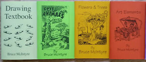 Bruce McIntyre Set of 4 Drawing Books, Drawing Textbook And 3 Other Titles