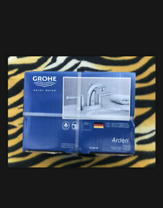 """Grohe Arden Faucet 20 308 000 4"""" Centerset Chrome Pop Up Drain Included New Seal"""