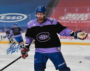 Autographed Montreal Canadiens Eric Staal 8x10 Photo #2 Original