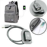 Black Backpack External USB Charging Interface Adapter Charging Cable Convenient