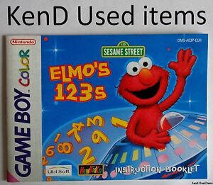 NINTENDO GAMEBOY COLOR v1 Sesame Street Elmo's 123s instruction booklet ENGLISH