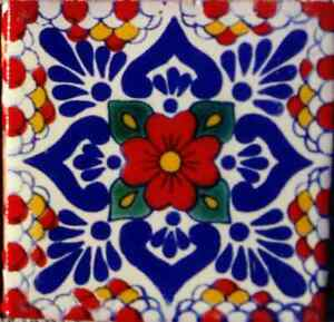 C#117)) MEXICAN TILE SAMPLE WALL FLOOR TALAVERA MEXICO CERAMIC HANDMADE POTTERY