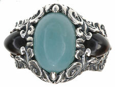Carolyn Pollack Quartzite and Smoky Quartz Sterling Silver Ring Size 6
