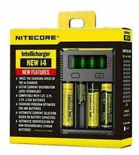Nitecore i4 Charger NEW I4 Intellicharge 18650-26650-20700-16340 Battery UK Plug