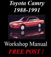 TOYOTA CAMRY 1988 - 1991 WORKSHOP SERVICE REPAIR MANUAL DIGITAL DOWNLOAD