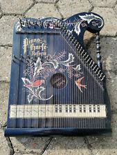 Piano Harfe Reform Zither Salon-Hafe mit Koffer geschätztes Alter 1900-1020