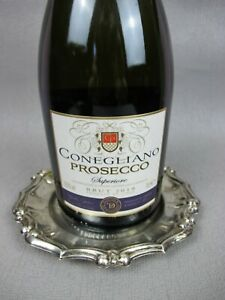 Vintage silver plated Ibis Wine or Champagne Bottle Coaster, Decanter Stand.
