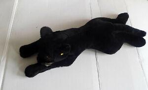 Steiff Panther Nr. 0387/75 mit Knopf und Fahne  - 75 cm- Seltenes Sammlerstück