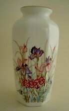 """Amazing Ayame Seizan Vase with Colorful Floral Design 6"""""""