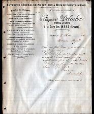 """LES MARS (23) FOUR à CHAUX / BOIS / HOTEL & CAFE """"Auguste DELARBRE"""" en 1910"""