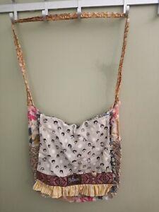 Matilda Jane Platinum Crossbody Messenger Bag Shoulder Bag 2 inner pockets
