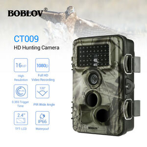 CT009 16MP 1080P Trail Game Camera Farm Scout 8MP CMOS Waterpoof Night Vision