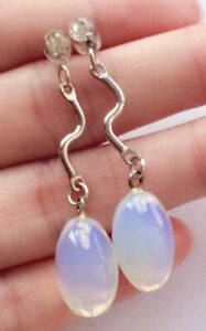 10x11mm Sri Lanka Moonstone Rice Gemstone Earring