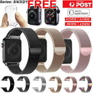 Band For Apple watch Series 6 5 4 3 21 Milanese Magnetic Stainless Loop iwatch