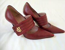 Moschino red leather shoes, size 4