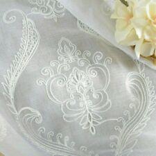 Embroidery Cotton Net Curtains Pelmets Tulle Voile Window Panels Drape Baroque