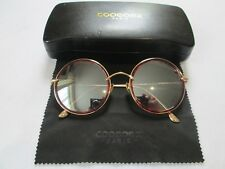 Copenax gold frame round mirror sunglasses. CS 5028. With case.