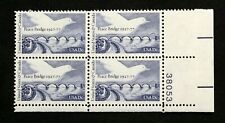 Us Plate Blocks Stamps #1721 ~ 1977 Peace Bridge & Dove 13c Plate Block of 4 Mnh