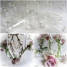 24 x Dekoflaschen Vase Glasflaschen 6 cm Glasfläschchen Tischvasen Väschen Vasen