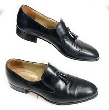 Johnston & Murphy Aristocraft USA Tassel Loafer Shoes Black Leather Men's 10B