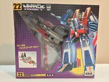 Transformers Starscream Takara G1 reissue #22 Japan MISB