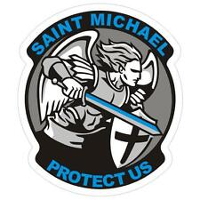 Saint Michael Thin Blue Line Police Sticker / Decal #199 Made in U.S.A.