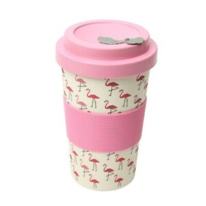 Dexam BamBroo Drinks Mug 400ml  - Peony Pink