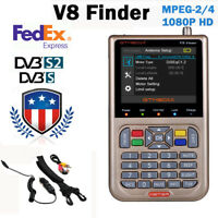 GTMEDIA V8 Satellite Finder DVB-S2/S2X HD LCD Digital Sat Finder Signal Meter US