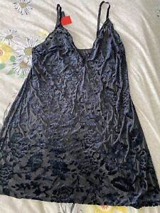 Ladies Ann Summers Size L (16-18) Black Maisie Chemise
