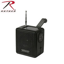 Rothco 80004 Solar/Wind Up Radio - Black