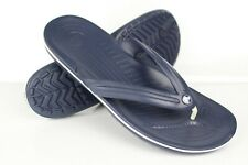 Crocs Men's Crocband Flip Flop Sandals Size 13 Navy Blue White *Blemish