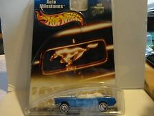 Hot Wheels Auto Milestones Blue 1965 Mustang w/Real Riders