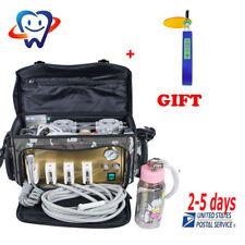Portable Dental Turbine Unit Messenger Bag Air Compressor Syringe handpiece Kit!