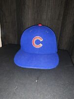 New Era Chicago Cubs GAME 59Fifty Fitted Hat (Royal Blue) MLB Cap Size 6 7/8