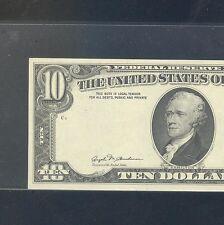 1981 $10 ERROR ~~ OVERPRINT ON BACK .. GEM UNC PPQ quality !