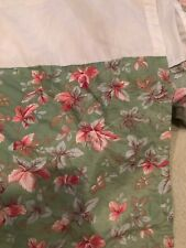 Laura Ashley Bed Skirt twin Floral Box Pleat country shabby chic green pink EU
