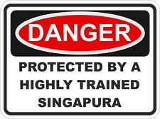 Cat Breed SINGAPURA Danger Sticker Pet for Bumper Locker Car Door