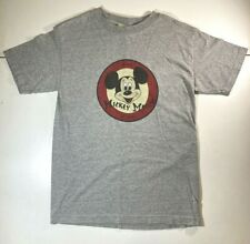 Disney Mickey Mouse Club Member Retro T-Shirt SMALL Gray Mickey Co Graphic