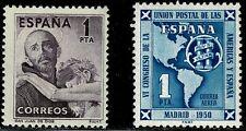 1950-1951.MNH.Ed:**1070,1091.San Juan Dios y UPU.Sin fijasellos